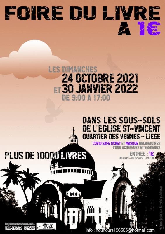 Foire du livre a un euro 24 octobre 2021 30 janvier 2022