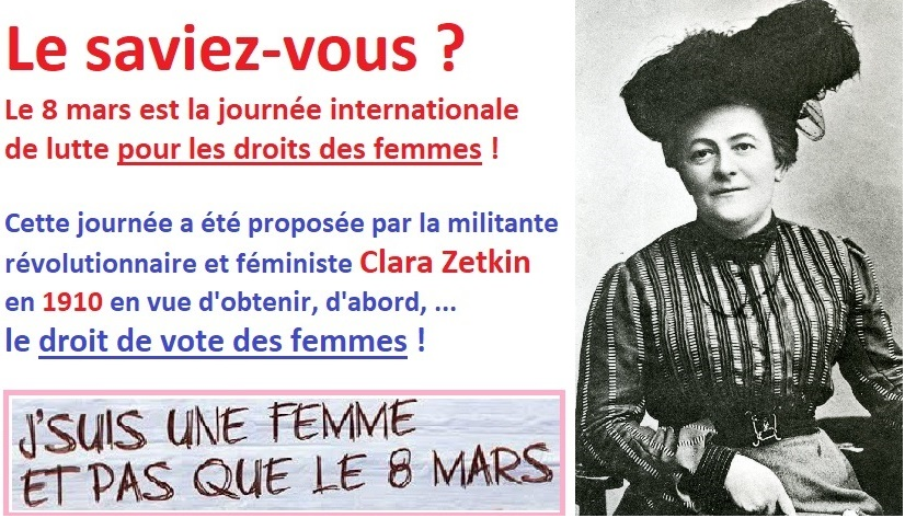 Huit mars droits des femmes clara zetkin